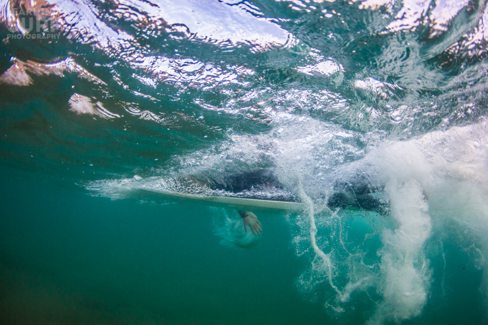 From a small day with rare clear water in South Devon, Joe paddles the Catch Surf Super One, ISO 800, 11mm, f4, 1/1000.