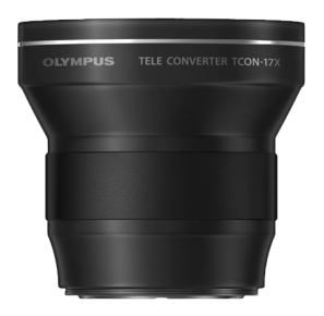 The Olympus teleconverter adds 1.7 times the reach to your telephoto zoom lens