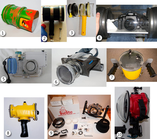 My water housing history, including several home made housings