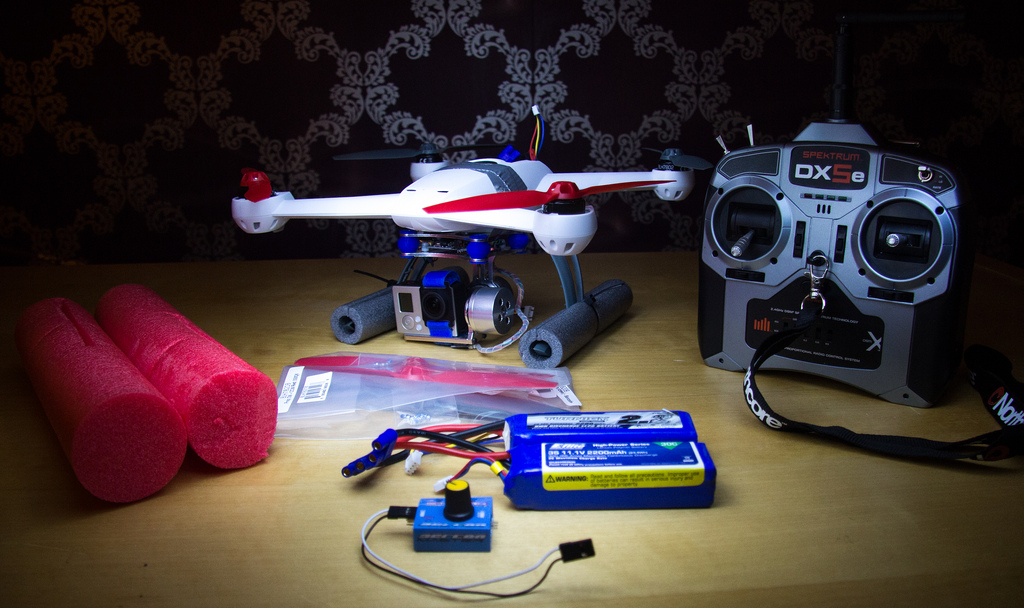 My Blade 350QX set-up, with all the accessories I need