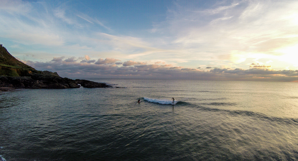 Joe surfing, Shot from the QuadCopter
