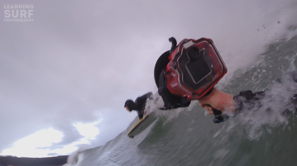Frame grab from hand held GoPro footage