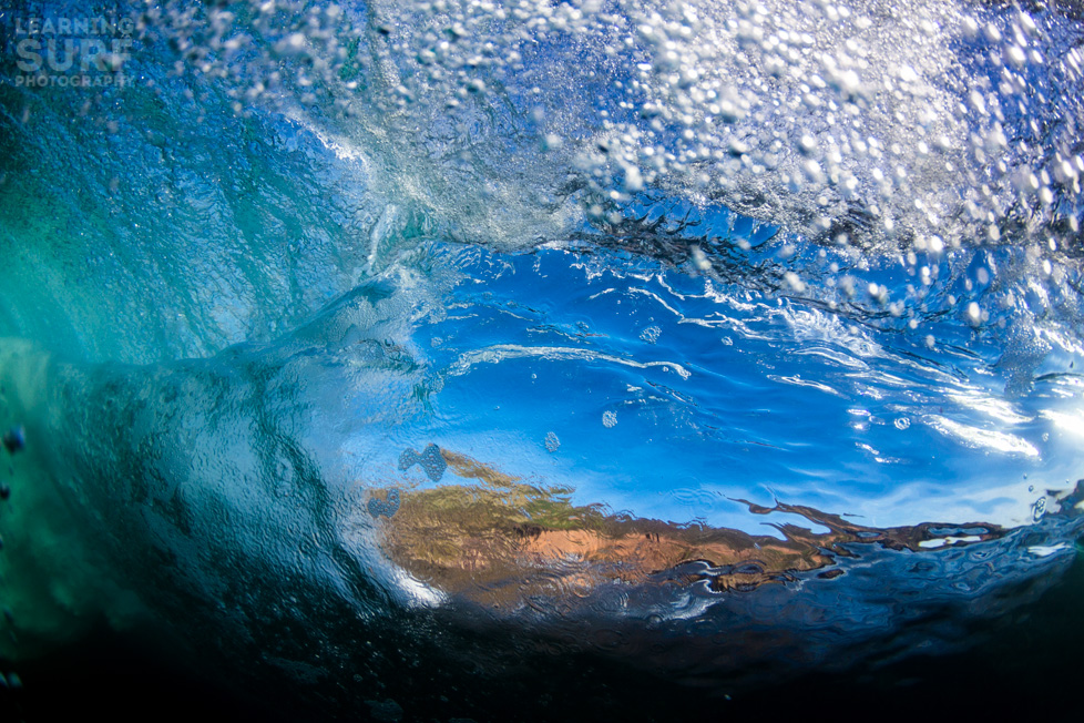 "This underwater photo was taken with a Tokina 10-17mm fisheye through an 8"" dome port, ISO 100, 10mm, f4.5, 1/1000"