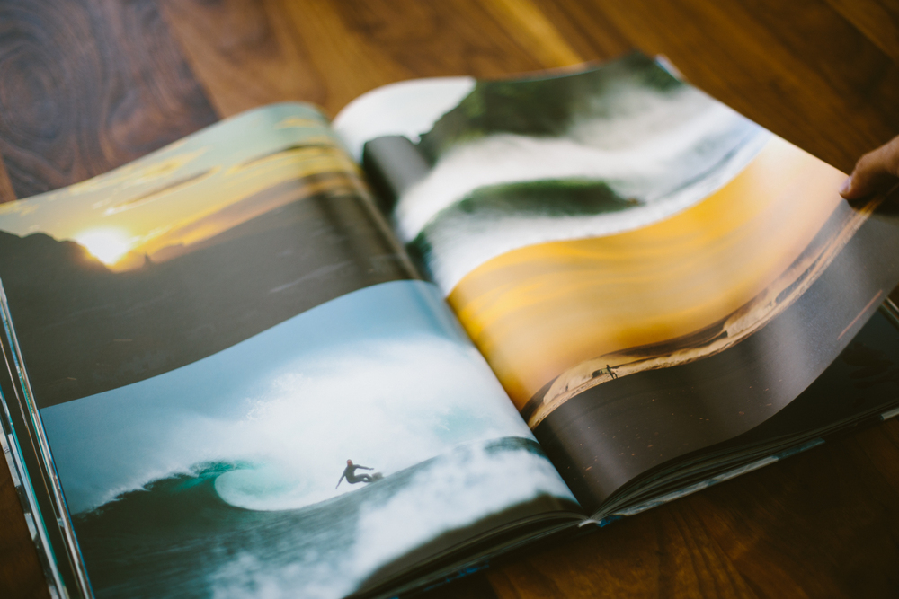 A spread from Chris Burkards latest book: Distant Shores