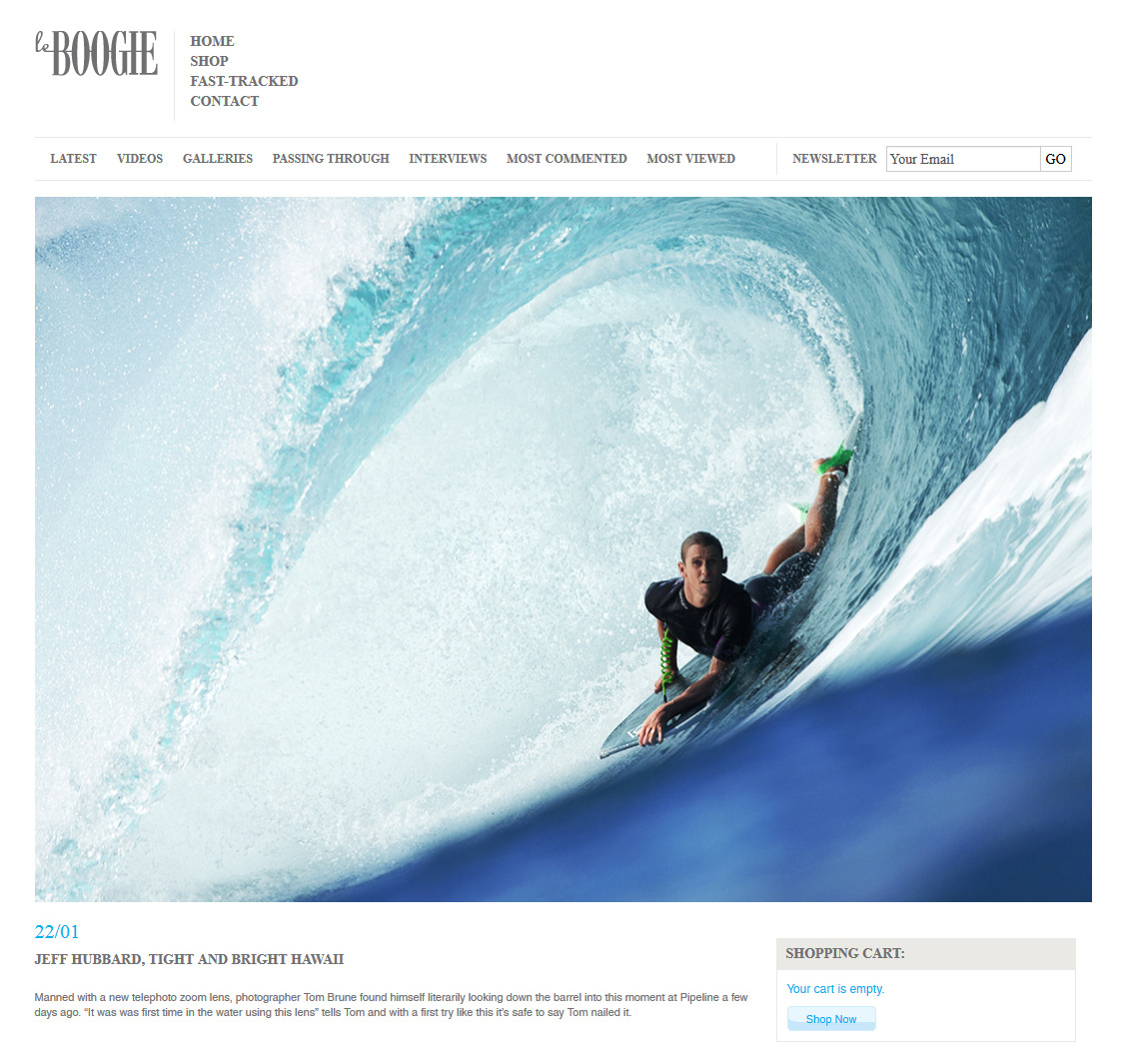 Tom Brune's photo of Jeff hubbard on the Le Boogie website