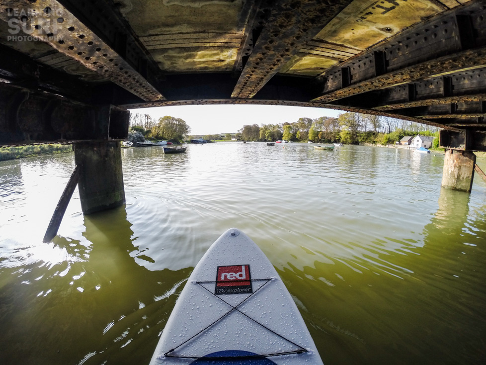 A photo from the GoPro Hero 3 Black Edition, passing under the pedestrian bridge near Fremington Quay, ISO 100, 2.77mm, f2.8, 1/500