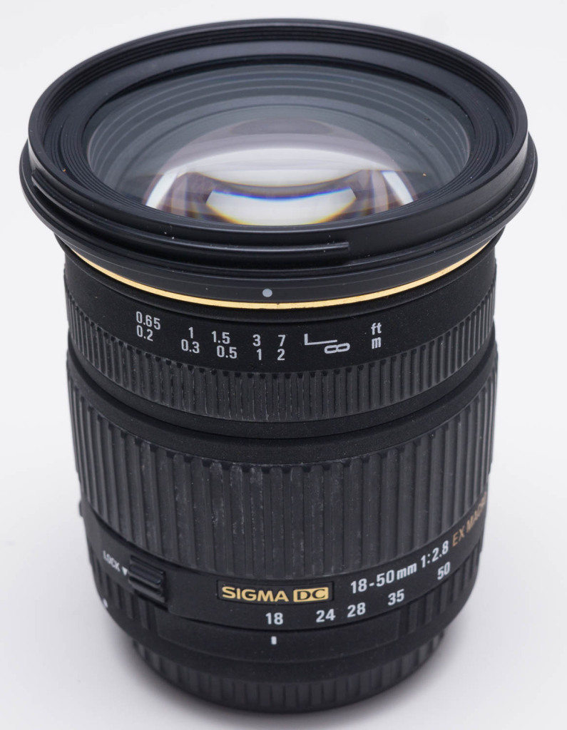 Sigma 18-50mm f2.8 lens for Canon