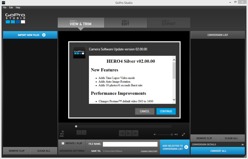 It's a fairly simple process once you have an up to date version of GoPro Studio, just plug your camera in via USB and follow the prompts
