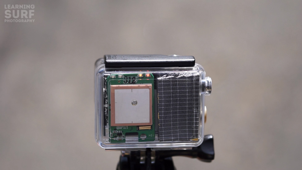 frame grab of the finished DIY GoPro GPS BacPac