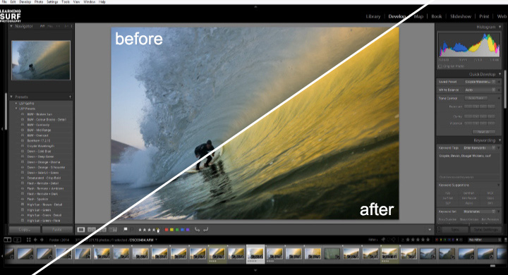 Processing Surf Photos in Adobe Lightroom