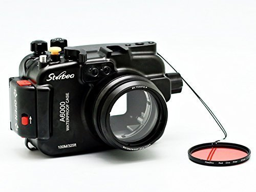 Sony a6000 Meikon Starbea water housing with interchangeabl;e ports, now available through Amazon.com