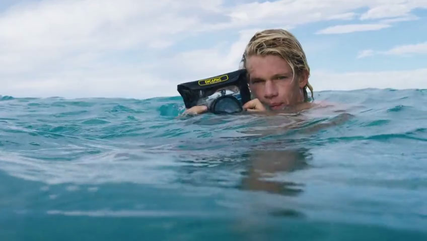 John John Florence uses Dicapac to shoot surf photographs in the water