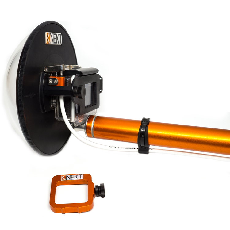 The KNEKT KSD6 dome port works with the KNEKT KTP18 Trigger Pole