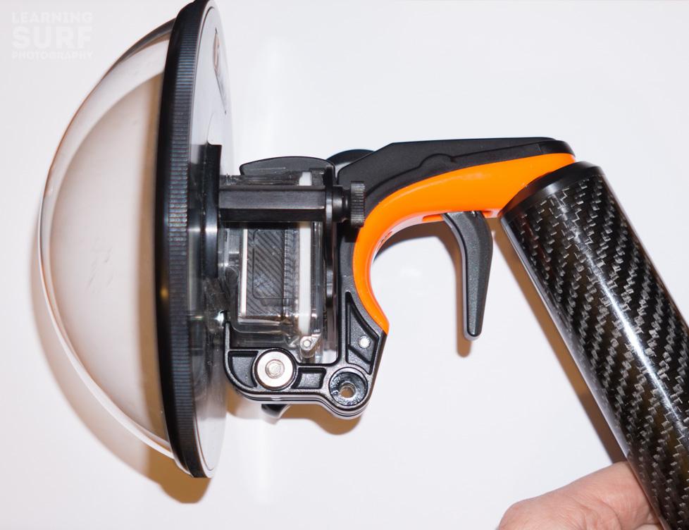 The KNEKT KSD6 dome port works with the SP Gadgets Section GoPro Pistol Trigger