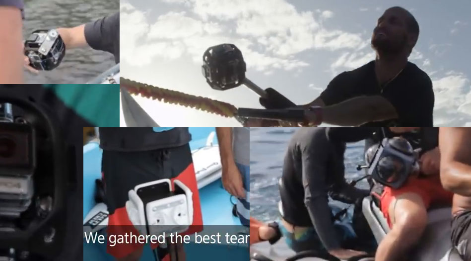 All the equipment that CJ Hobgood and taylor Steele used to capture 360 degree video of surfing at Teahupoo for Samsung Gear VR