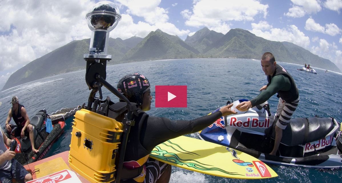 The 360 degree camera rig used in red Bull's 2007 Inside Teahupoo is much bulkier than the current options
