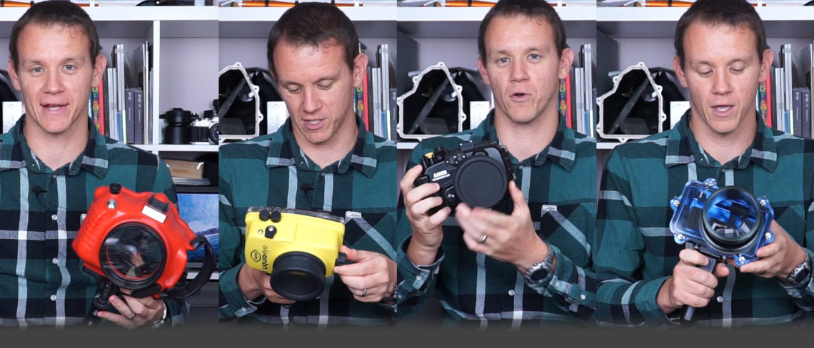 My surf housing comparison for the Sony a6000 and a6300