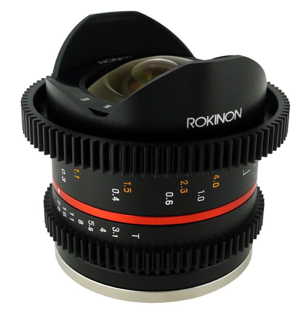Rokinon cinema lens with gears