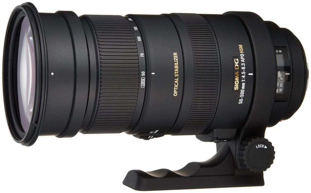The Sigma 50-500mm is a popular telephoto zoom lens