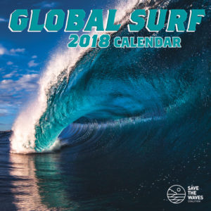 The Global Surf calendar, featuring two of my photos