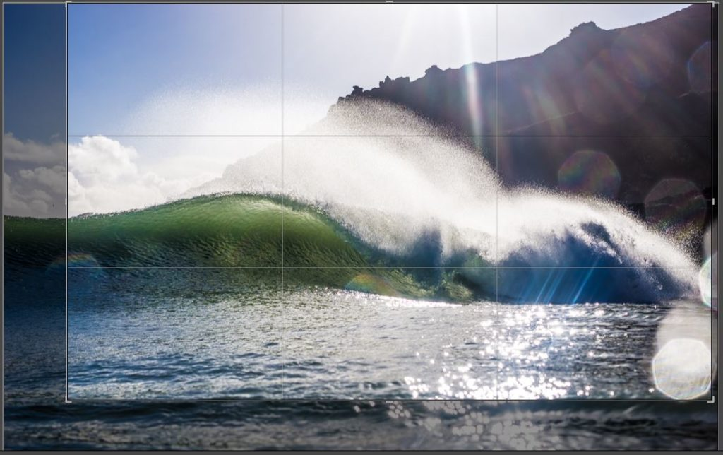 Crop applied to photo from the Global Surf Calendar