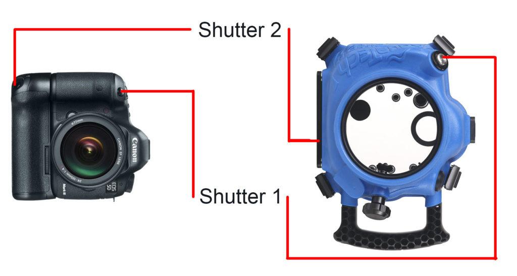 Aquatech elite ii housing shutter buttons