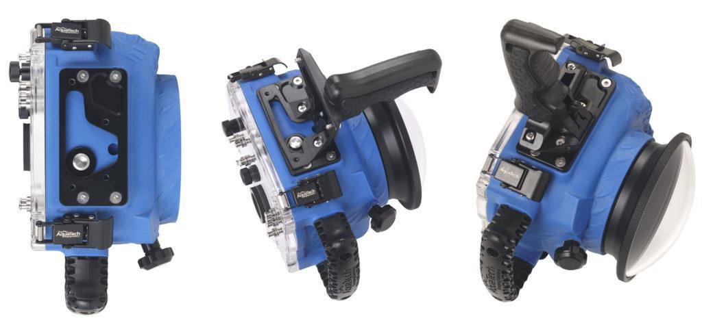 Aquatech m3 pistol grip attached to AquaTech Elite II housing