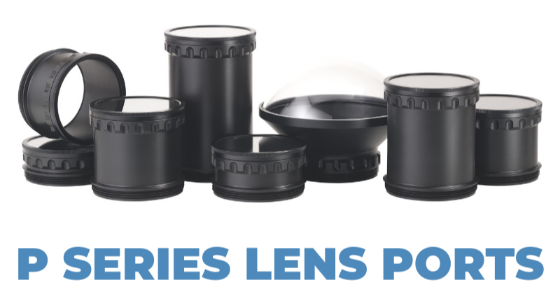 Aquatech p-series lens ports for the Aquatech Elite II and Aquatech Base II water housings
